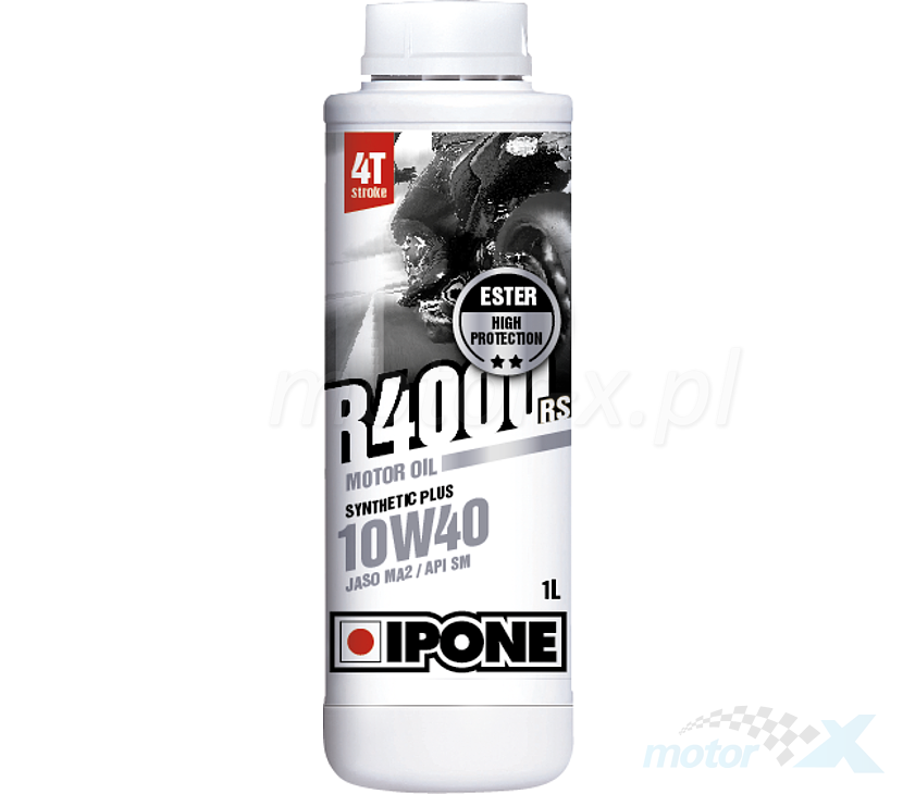 Olej silnikowy IPONE R4000 RS półsyntetyczny 4T 10W40 1L