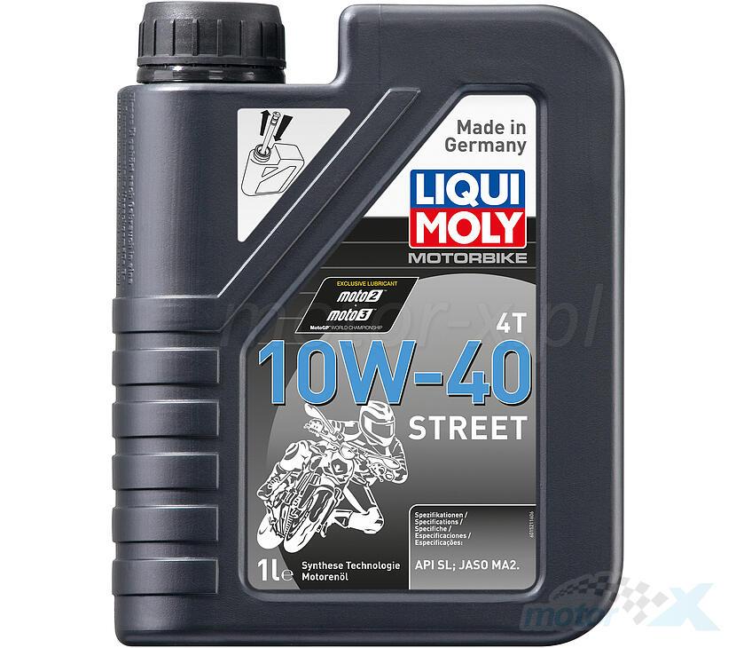 Olej silnikowy Liqui Moly Street 1521 półsyntetyczny 4T 10W40 1L